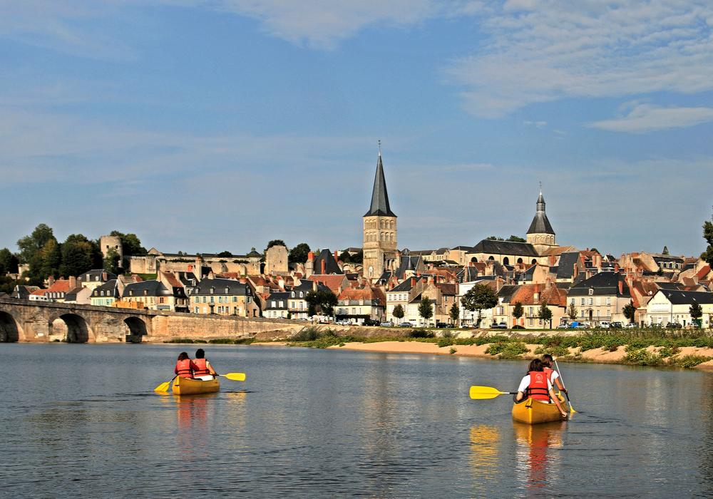 Canoë sur la Loire La Charité-sur-Loire ©Ch.Goupi
