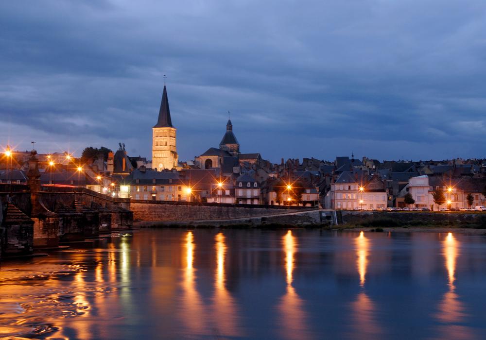 La Charité-sur-Loire de nuit - ©Ch.Goupi