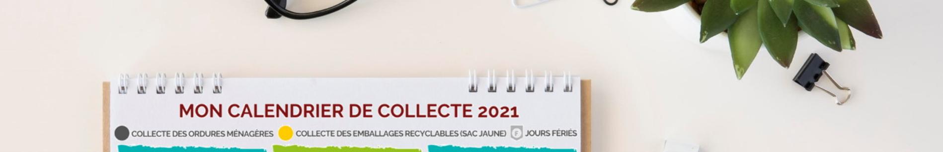Bandeau calendrier collecte 2021